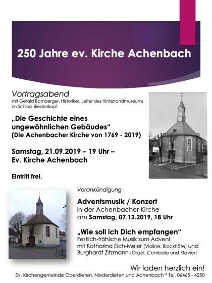 Adventsmusik mit Katharina Eich-Meier und Burkhard Zitzmann @ Kirche Achenbach